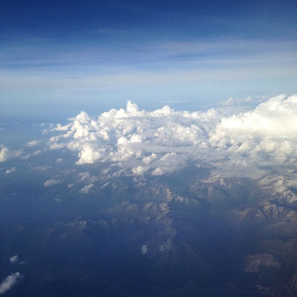 Aerial View Cloud Landscape Majestic Mountain Physical Geography Sky Tranquility
