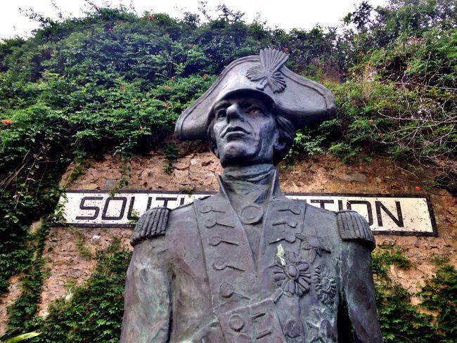 Exporing Gibraltar Statue Nelson