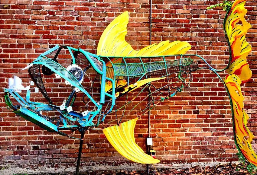 Fish Art at Breezeway Restaurant Florida Sanford Art Street Art Restaurant