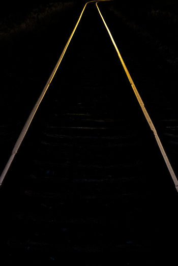 The Way Forward Direction No People Transportation Diminishing Perspective vanishing point Dark Outdoors Straight Connection Railroad Track Track Long