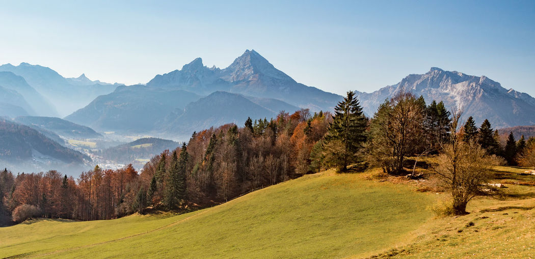 Watzmann bei Berchtesgaden Mountain Sky Scenics - Nature Beauty In Nature Tranquil Scene Mountain Range Tree Tranquility Environment Plant Landscape Non-urban Scene No People Nature Grass Idyllic Green Color Land Growth Day Mountain Peak Outdoors Autumn Mood EyeEmNewHere