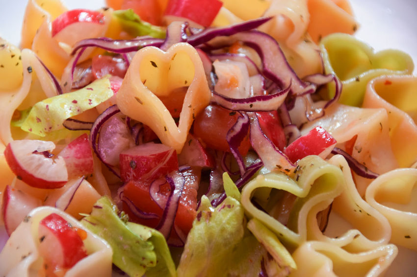 Italian pasta menu salad on valentine's day Basil Food And Drink Italian Pasta Love Menu Salad Valentine's Day  Cabbage Close-up Day Eat Food Food And Drink Freshness Healthy Eating Heart Heart Shape Indoors  Italian Food Love Salad Pasta Ready-to-eat Tomato Vegetable Violet