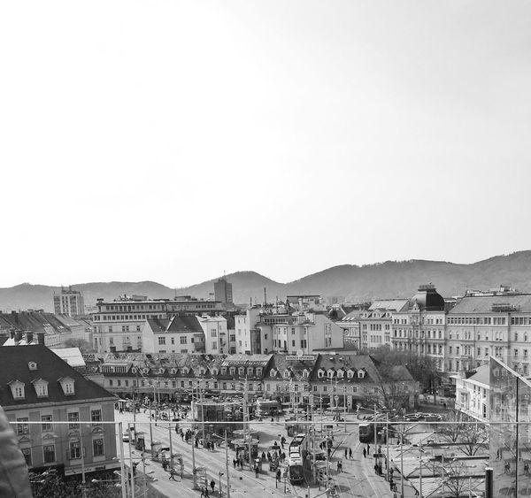 Graz Jakominiplatz Black White
