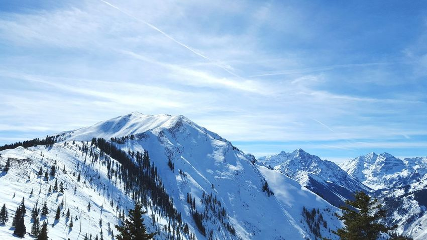 Highland bowl and Maroon Bells Winter Vacation Skiing Aspenhighlands Colorado Rockies Snow Sunny Day Been There.
