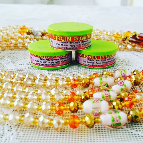 Self care... Waistbeads Virgin  Powder Traditional Culture Ghana Women Women Around The World Oldwomen Youngwomen African Beauty Africanwoman Africa