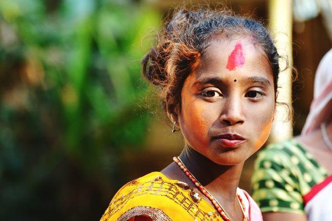 EyeEm Selects People Close-up Day Outdoors Human Face Beauty Child Holi Festival Of Colours Indianphotography India Festival Of Colors Colourful Portrait Colour Splash Colours Of Spring