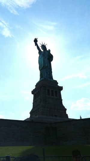 Took this of our Ladyliberty Statue Of Liberty Proud Tall Beautiful Perfect Weather Libertyisland N.Y. United States Historical Monuments
