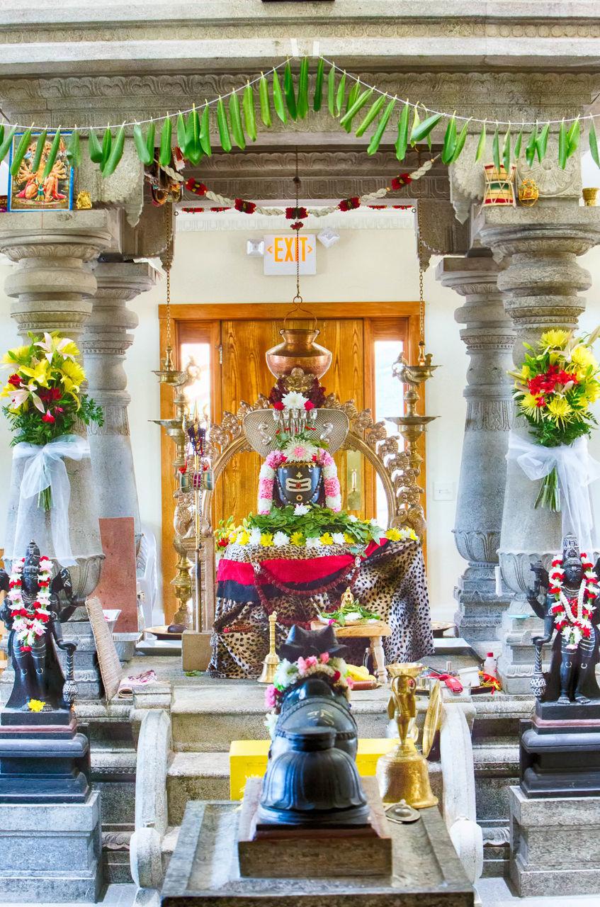 Shiva Statue In Temple