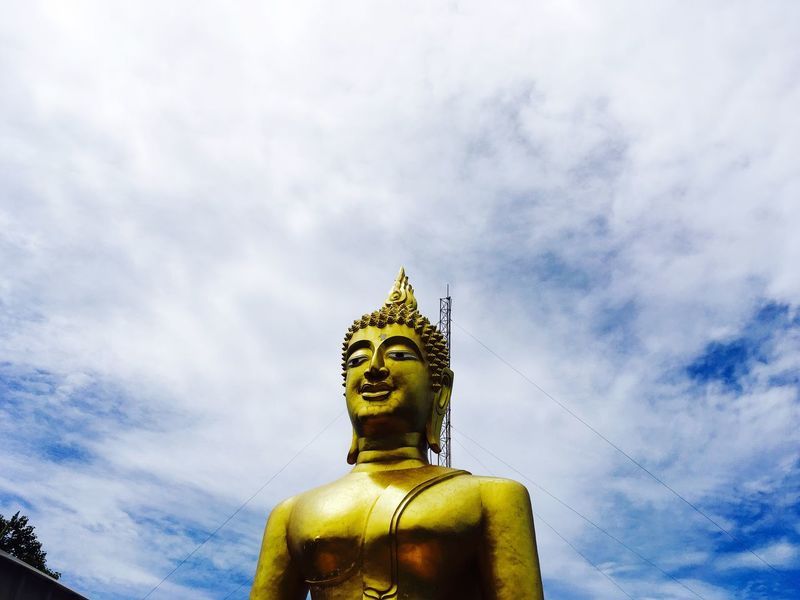 43 Golden Moments Gold means peace Siddharth Buddha Blessing The Whole Mankind Teaching Us About Life Peace And Quiet Happiness Deft Work Of Sculpture Thailand Through My Eyes Travel Photography at the Big Buddha Temple Pattaya Thailand