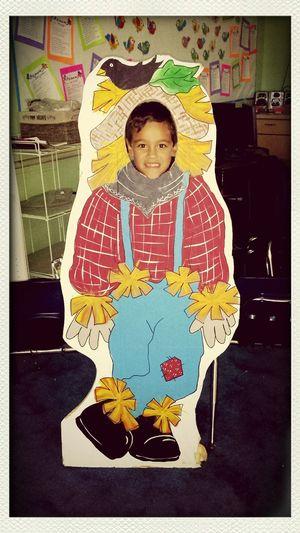 Halloween At School Having Fun Scarecrow