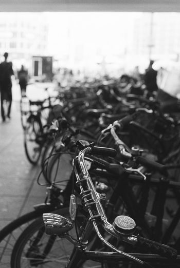 sooo many Bicycles 🚲😀 35mm Film Analogue Photography Nikon FA Bicycle Bicycle Rack Black And White Schwarzweiß Blackandwhite Monochrome Photography Berliner Ansichten Berlin Love City Close-up Day Focus On Foreground Land Vehicle Mode Of Transport Outdoors Stationary Transportation
