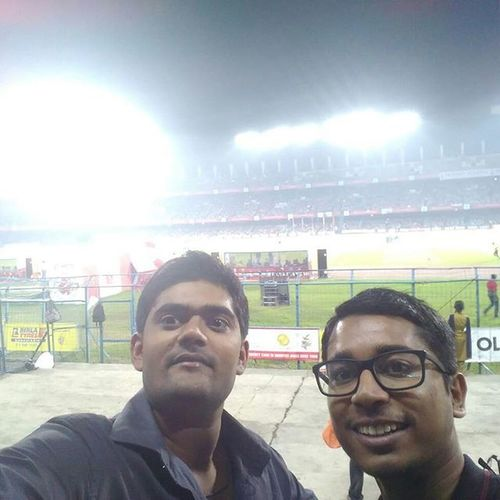 At salt lake stadium. Athletic de kolkata, u totally worth it. GoATK Wearethechampions