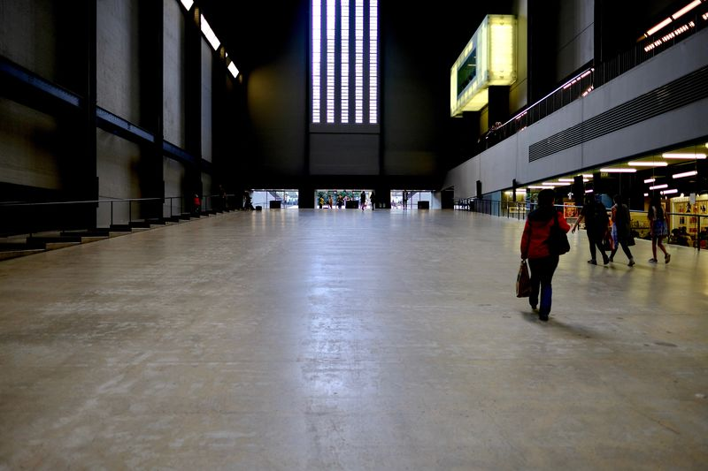 Tate Modern from the ground TateModern Built Structure Concrete Floor Fine Building Illuminated Indoors  People Pritzker Architecture Prize Slope Turbines Room Underground EyeEm In London