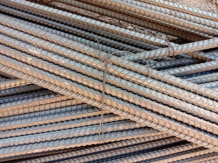 Full frame shot of metallic rod