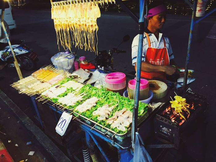 Thailand Pattaya Food Small Business Street Food One Person Night Lifestyles People Photography Market Streatphotograpy Food And Drink Storyformylife