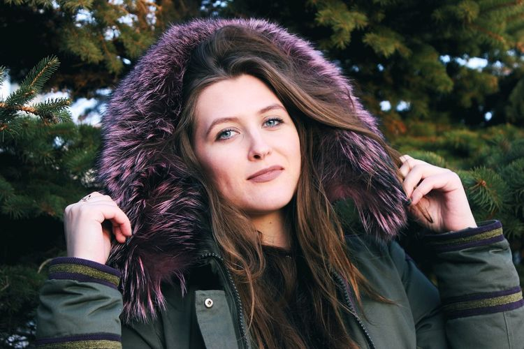 Astana Kazakhstan Woman Of EyeEm Woman Portrait Hand Green Color Blue Eyes Color Woman Who Inspire You Woman Face Adult Cold Temperature Beautiful Woman Beauty Only Women People Beautiful People One Person Portrait Front View Warm Clothing Young Adult Adults Only Outdoors One Woman Only Winter Women Nature Headshot Long Hair