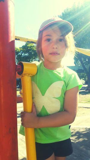 Little Little Girl Littlegirl My Daughter My Daughter ❤️ My Daughter ♥ My Little Daughter My Princess Hat At The Park At The Park⛳ At The Park .  A Day At The Park At The Park <3