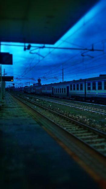 Train Station Train Trainporn Blue
