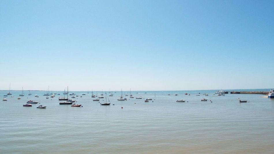 Ile d'Aix Island Beach Boats Sea View Ocean Ocean View