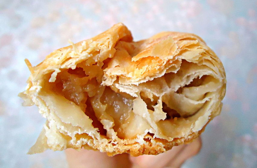 Apples Baked Bitten Breakfast Close-up Delicious Dessert Dough Flaky Dough Flaky Pastry Flaky Pastry With Apples Food Fresh Baked Homemade Meal Pastry Puff Pastry Tasty Baking Mom's Baking