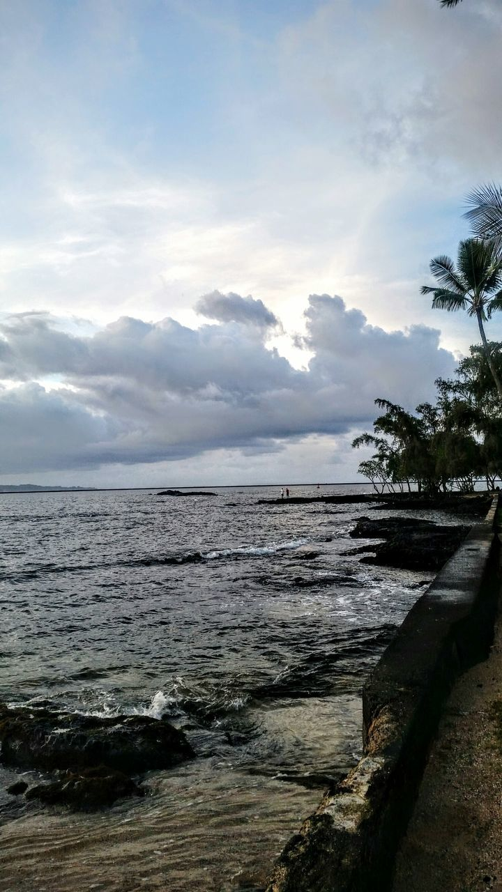 sea, sky, nature, water, tranquility, cloud - sky, scenics, beach, landscape, no people, beauty in nature, outdoors, horizon, tree, day