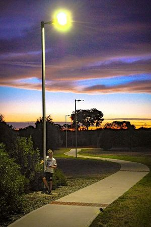 Sunset in West Lakes Adelaide, South Australia Landscape Photography Robyn Haworth Everyday Life Boys