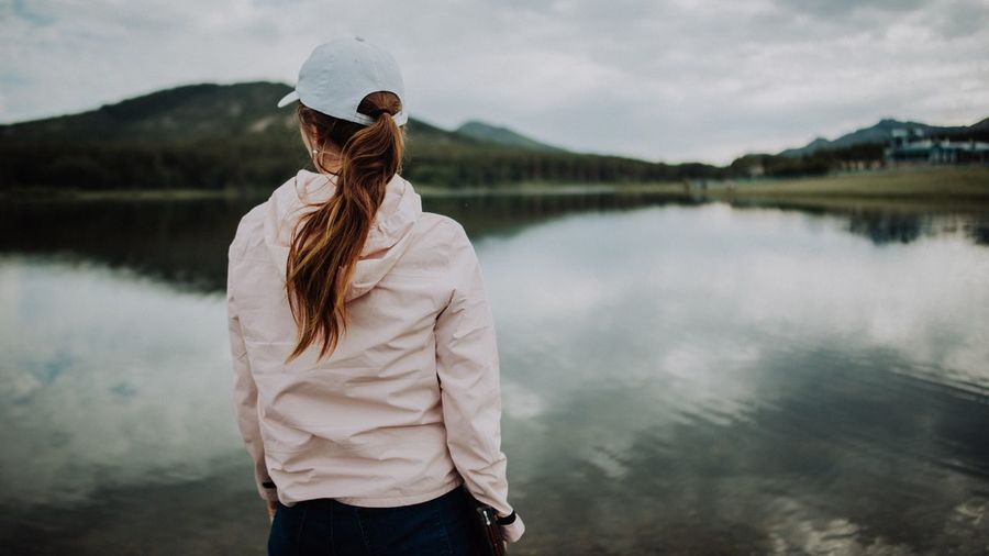 Part of the trip. Reflection Water One Person Lake Standing Adult Nature Reflection Women Portrait Outdoors Day Cloud - Sky Sky First Eyeem Photo