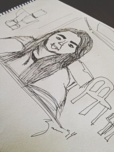 My attempt to draw myself was epic. Sketch Ink Drawing Portrait