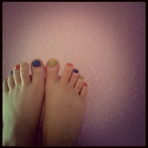 At Home My Feet Colour On The Wall