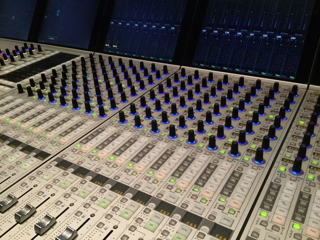 Mixing Console for Radio Broadcast Nofilternoedit 16Snow Sound Recording Equipment Sound Mixer Technology Arts Culture And Entertainment Recording Studio Music Control Audio Equipment High Angle View No People Studio Equipment Mixing Audio Electronics