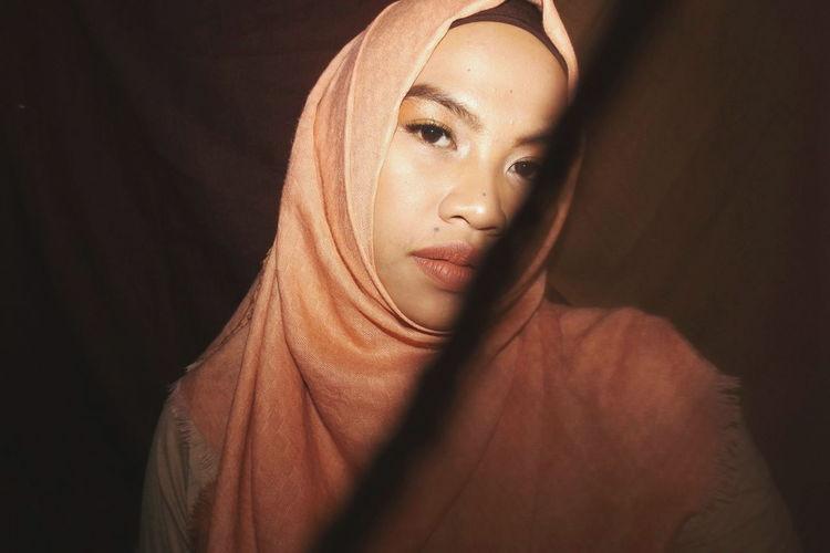 Portrait of woman wearing hijab