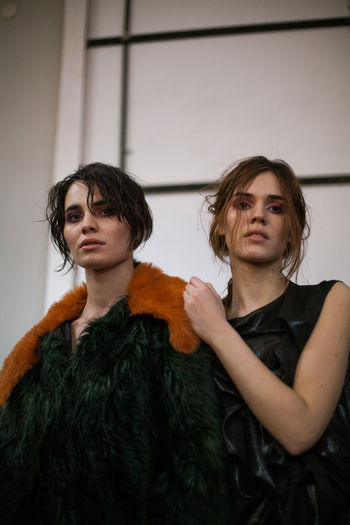 Fashion during a Fashion Week in Tbilisi, 2018. © Adlan Mansri www.adlanmansri.com The Fashion Photographer - 2018 EyeEm Awards Adult Beautiful Woman Brown Hair Clothing Contemplation Front View Hairstyle Indoors  Leisure Activity Lifestyles Looking Looking At Camera People Portrait Serious Standing Teenager Two People Waist Up Women Young Adult Young Men Young Women