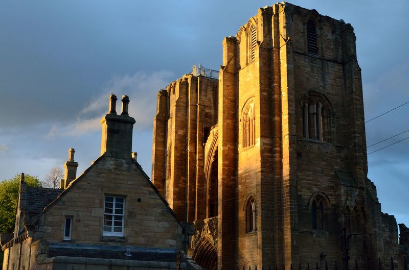 Architecture Building Building Exterior Built Structure City Cloud - Sky Day Elgin Cathedral History Low Angle View Nature No People Old Outdoors Place Of Worship Religion Sky The Past Tower Travel Destinations