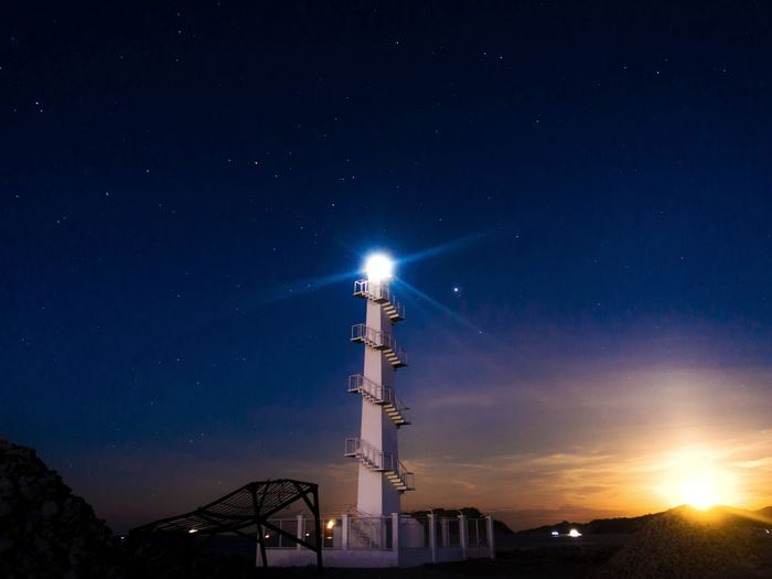 moonset and lighthouse Lighthouse Moonset Moon Moonlight Luna Landscape Night Nightphotography Nightshot Astronomy Star - Space Moon Constellation Nightlife Science Illuminated City Popular Music Concert Sky