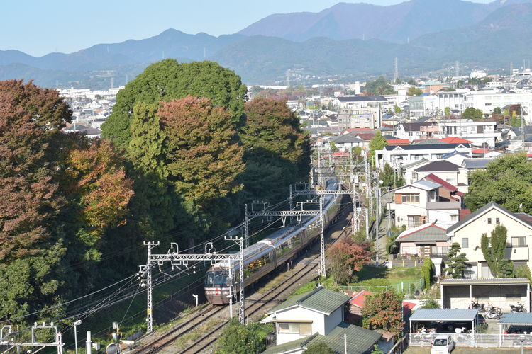 City Cityscape TOWNSCAPE Train Tracks Architecture Building Building Exterior Built Structure City City And Sky City Landscape City View  cityscapes Cıty House Mountain Nature No People Residential District Scenery Scenery_collection Town View Train - Vehicle Train Track Train View