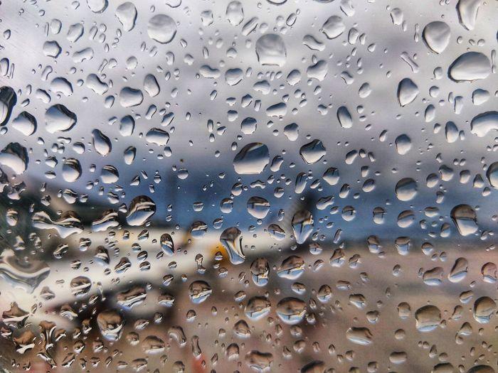 Wet Water Backgrounds Full Frame RainDrop Drop Wet Window Weather Rain Rainy Season Water Drop Droplet Glass Airplane Wing Aeroplane Aircraft Blurred