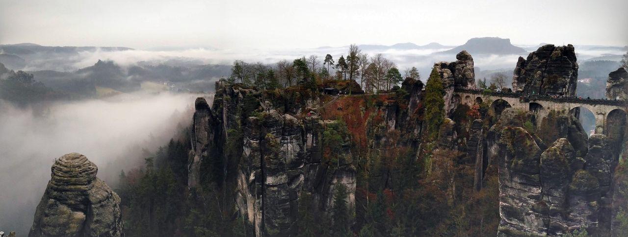High Angle Shot Of Rocky Landscape