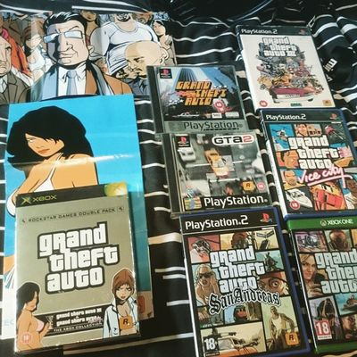 A very small. Grand Theft Auto . Collection! . I can't find my GTA London or GTA 4 :(. All made in one place! SCOTLAND!. Rockstar North. DMA Design. GTA GrandTheftAuto Collection Gamer geek youtubegaming youtube youtuber gamerguy scottish scotland rockstarnorth rockstargames glasgow gtalondon gta2 gta3 gta4 gtav gtavicecity gtasanandreas sanandreas vicecity libertycity TheScottishTrooper