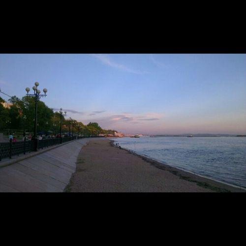 ПространствоХабаровск набережная Закат Coast sunset sky