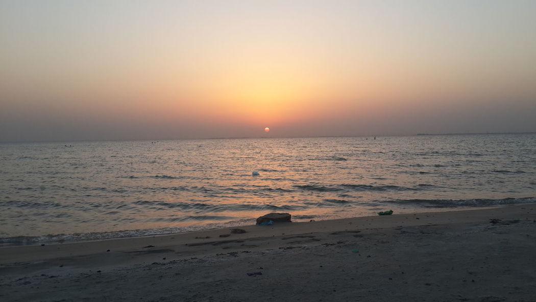 Sunset Beach Sea Landscape Horizon Over Water Beauty In Nature Nature Dusk Sand Sun EyeEmNewHere