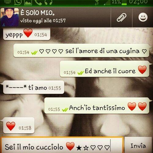 Il cuore di una cugina ♥♡ Cugino Persempre èsolomio LuigiMio tiamo love life noi like smile istagram like ♥♥.