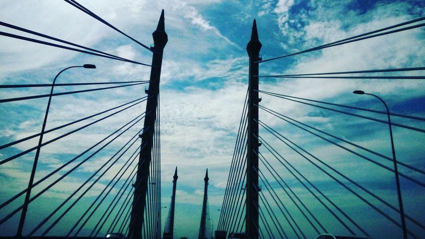Blue Sky Penang Bridge Sunshine Check This Out Taking Photos Detail