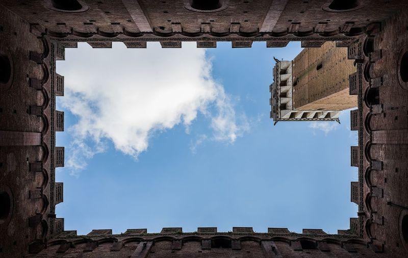 Siena Piazzadelcampo Italy Tuscany Tourism