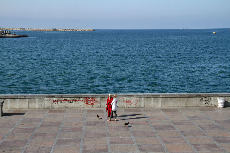 Crimea Sevastopol  Clear Sky Day Full Length Horizon Over Water Leisure Activity Nature Outdoors People Real People Sea Seaside Sky Water