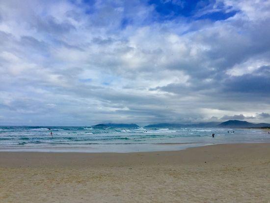 Sea Beach Horizon Over Water Water Cloud - Sky Wave Travel Destinations Joaquina Beach Florianópolis Brazil Sand