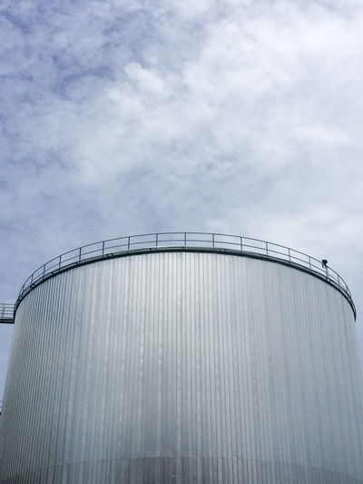 Palm Oil Tank for Refinery Cloud Cloud - Sky Day High Section Low Angle View Outdoors Palm Oil Palm Oil Mill Refinery Sky Tanks