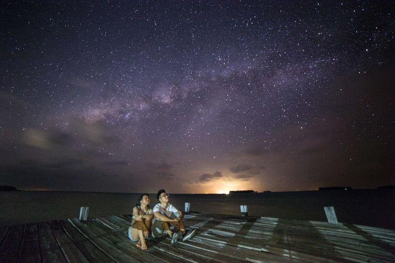 Milky Way in Pulau Pantara Pantara Island Kepulauan Seribu INDONESIA Star - Space Night Galaxy Space Astronomy Sky Beauty In Nature Milky Way Star Field Star Nature