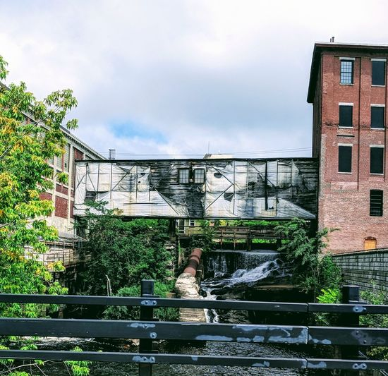 Beautiful Old Factory Mill Beauty In Nature Mainethewaylifeshouldbe Lewiston, Maine Tree Water City Sky Architecture Building Exterior Built Structure Cloud - Sky