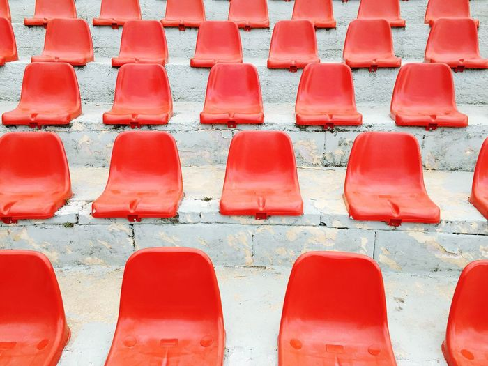 Red Seats Seats Perspective Architecture Pattern Geometry Geometric Shapes Amphitheatre Red Minimalist Architecture