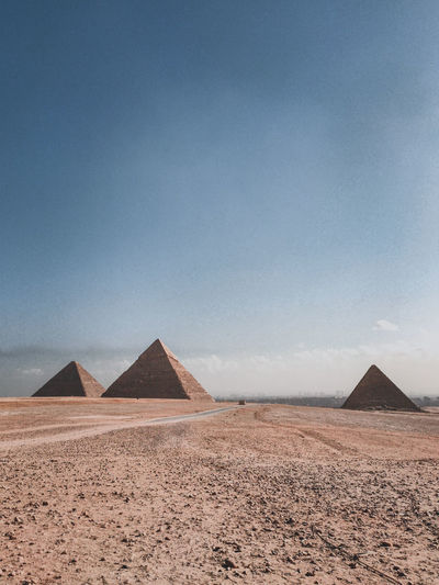 The great pyramid of giza in the sunny weather